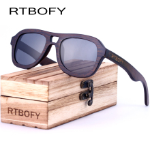 RTBOFY Wood Sunglasses Men 2017 Brand Design Polarized Sun Glasses For Men Wood Spectacle Frame Lens With Box Eyewear