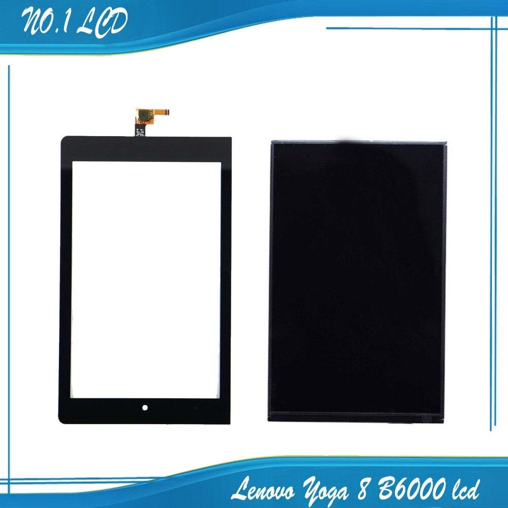 ФОТО For Lenovo Yoga 8 B6000 LCD Display Panel Screen Monitor with Touch Screen Digitizer Glass Sensor Lens 100% Test