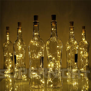 1m 2m 10/20leds String Light with Bottle Stopper Cork Shaped Wine Bottle Lights Decoration for Alloween Christmas Holiday Party