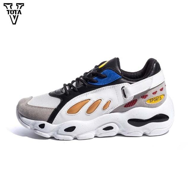 df29fc29 VTOTA Модная женская повседневная обувь Легкие дышащие сетчатые кроссовки  на платформе женская дышащая женская обувь из
