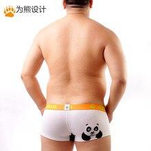 2016 Men's Cute Panda Print Plus Size Boxers Bear Claw Bear Underwear Sexy Shorts Designed For Gay Bear Free Shipping M L XL XXL