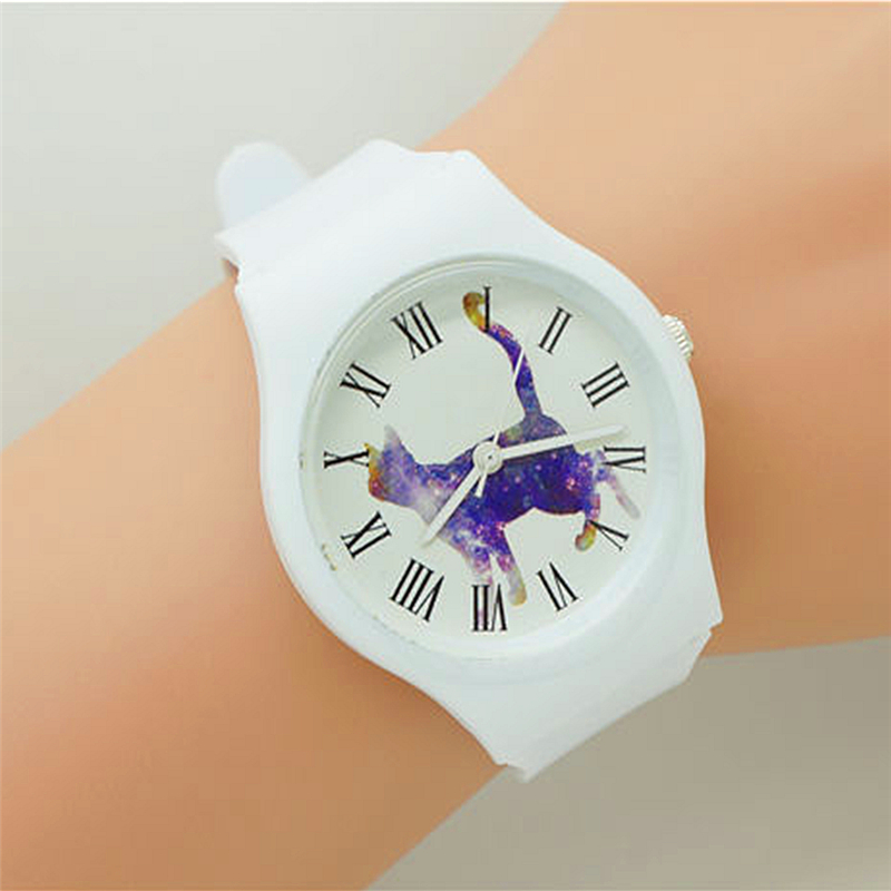 Fashion Women Promotion Silicone Animal Car Dial Rome Face Waterproof Wristwatchers For Men Children Casual Dress Sport Watch