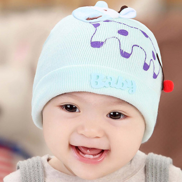 289f4d82af8f9 Baby Hats   Caps baby hat 0 - 3 - 6 months old pocket newborn hat winter  special yarn tire cap Size elastic hat around 32-40cm