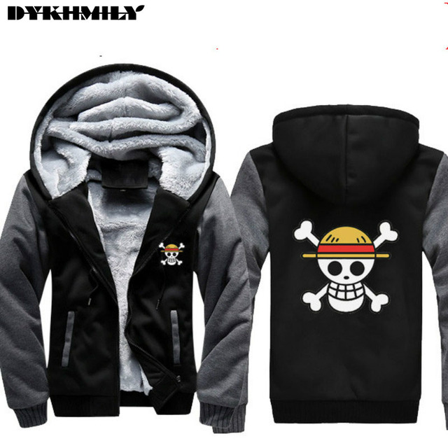 hoodies 5xl one piece anime men hoodie printed flag luffy with
