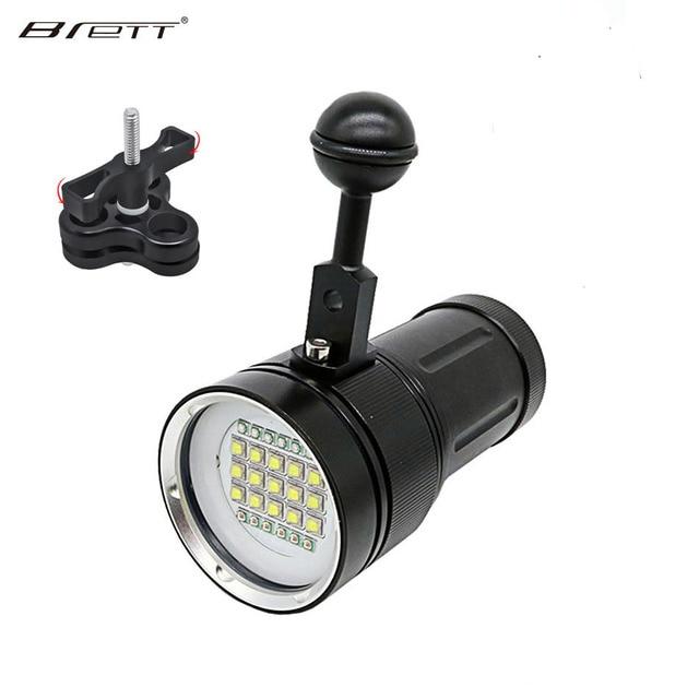 Professional Diving Photography Tactical Flashlight Underwater 100m Scuba Video Light 15 XM-L2 LED Camera Photography Flashlight