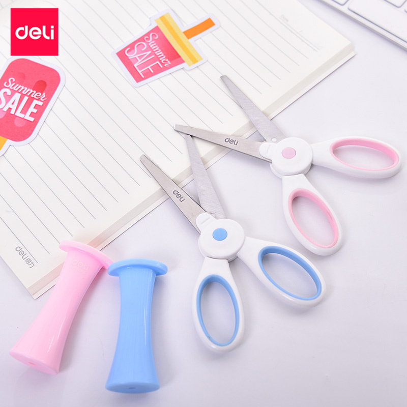 Scissors Strong-Willed Candy Hidden Creative Pen Design Student Safe Scissors Paper Cutting Art Office School Supply With Cap Kids Stationery Diy Tool Beautiful And Charming