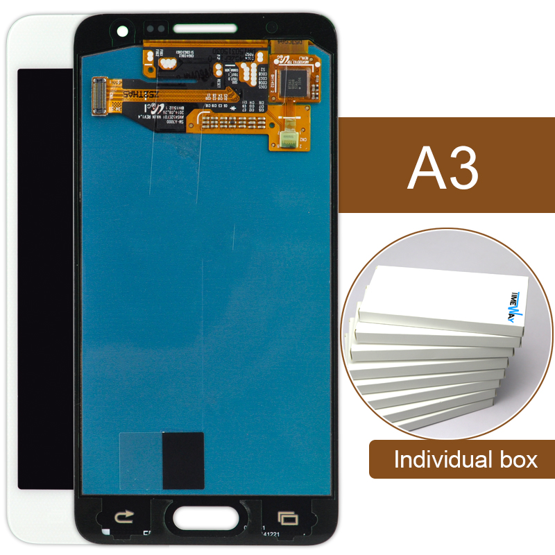 LCD Display Digitizer Touch Screen Assembly For Samsung Galaxy A3 A300 White blue  Replacement brand new lcd for samsung galaxy a3 a3000 a300 a300x a300f screen display with touch digitizer assembly