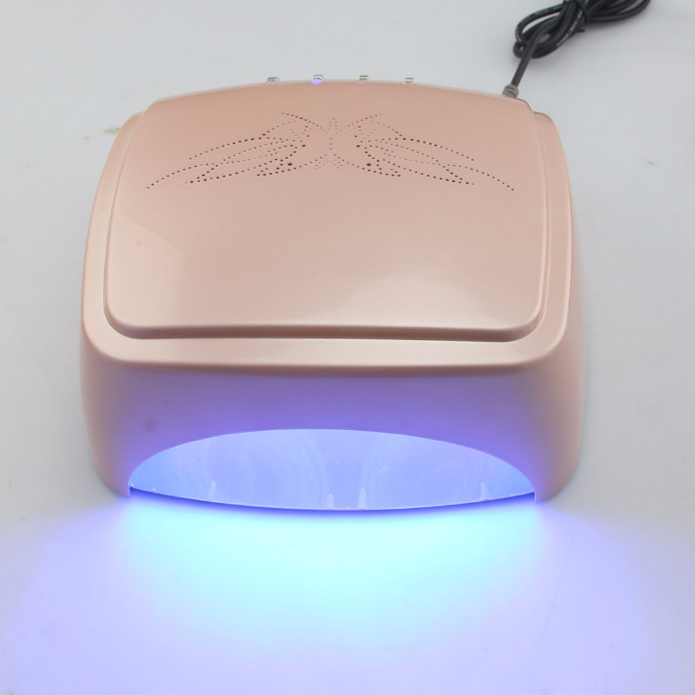 LKE 60 W CCFL LED lampe UV Machine à ongles pour gel d'ongles outils d'art des ongles, 60 W sèche-ongles = 36 W CCFL lampe UV + 24 W ampoule lumière LED blanc