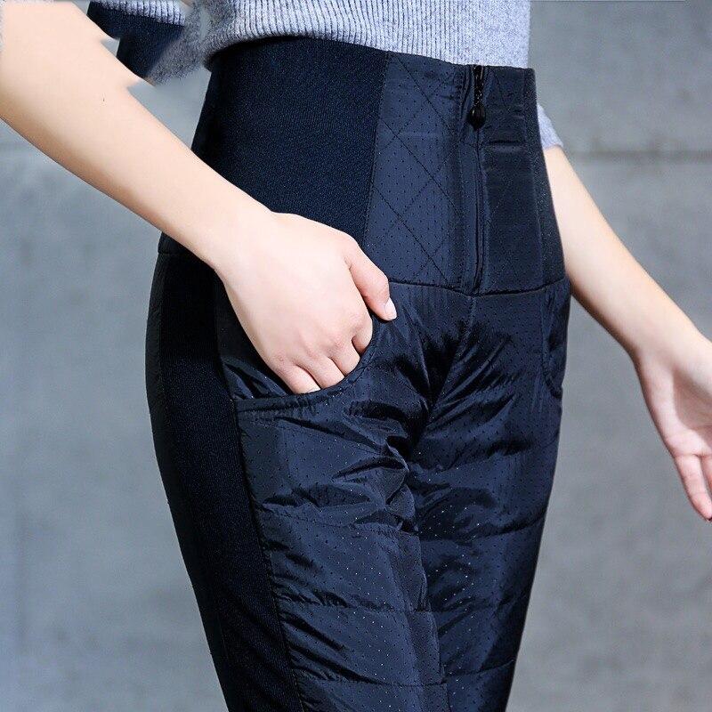 Nouveau mode 4XL grande taille femmes hiver crayon pantalon taille haute en coton rembourré pantalons chauds pour femmes Slim pantalons décontractés