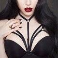 2017 Hot Mulheres Sexy Abrir Bra Gaiola Tops Erótico Bandage Cruz Corpo Tiras de Bondage Goth Lingerie Sutiã Halter Garter Cinta Plus Size