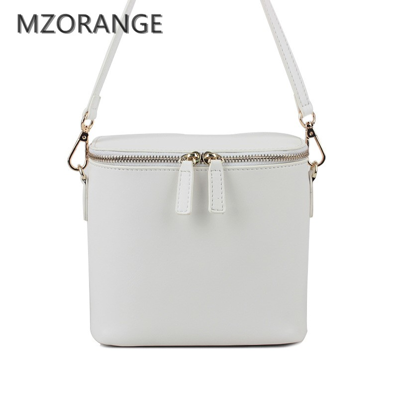 MZORANGE 2018 First layer of cowhide women Flap handbag one shoulder crossbody bag mini genuine leather brief sunday small bags new women genuine leather handbags shoulder messenger bag fashion flap bags women first layer of leather crossbody bags