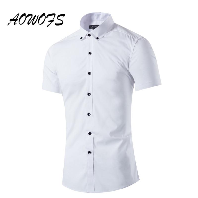 2017 Verano Camisas Blancas para Los Hombres Diseño