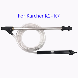 Image 1 - רכב מכונת כביסה רטוב חול Blaster סט עם 3m צינור עבור K2 K3 K4 K5 K6 K7 בלחץ גבוה מכונת כביסה פיצוץ לחץ אקדח