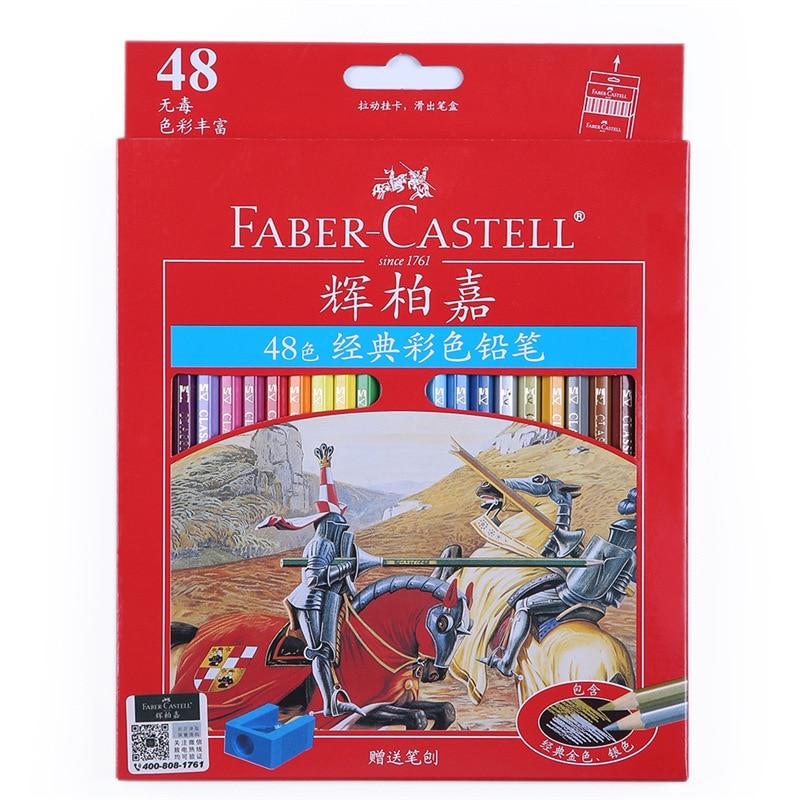 Faber Castell ფერის ფანქარი ზეთოვანი პასტელი ფანქრები 12/24/36 ფერები მითითებული Castle სერია ხელოვნების მასალები ფერადი ფანქრები სტუდენტური საკანცელარიო