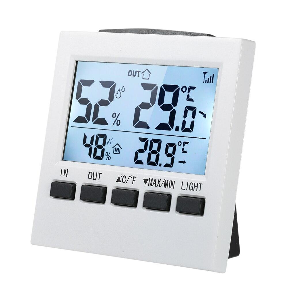 Werkzeuge WohltäTig Drahtlose Indoor/outdoor Digital Thermometer Hygrometer Temperatur Feuchtigkeit Meter Mit Max Min Wert Lcd Display GroßE Sorten Messung Und Analyse Instrumente