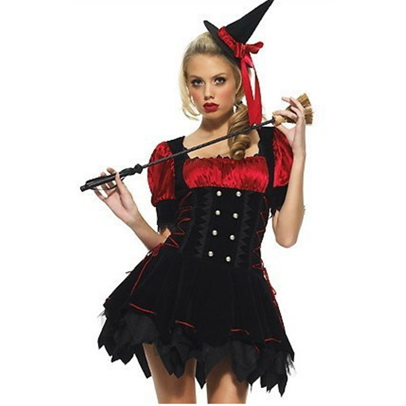 Us 23 9 Sexy Black Adult Witch Princess Halloween Costumes For Women Movie Maleficent Horn Cosplay Carnival High Quality Costume Party In Holidays