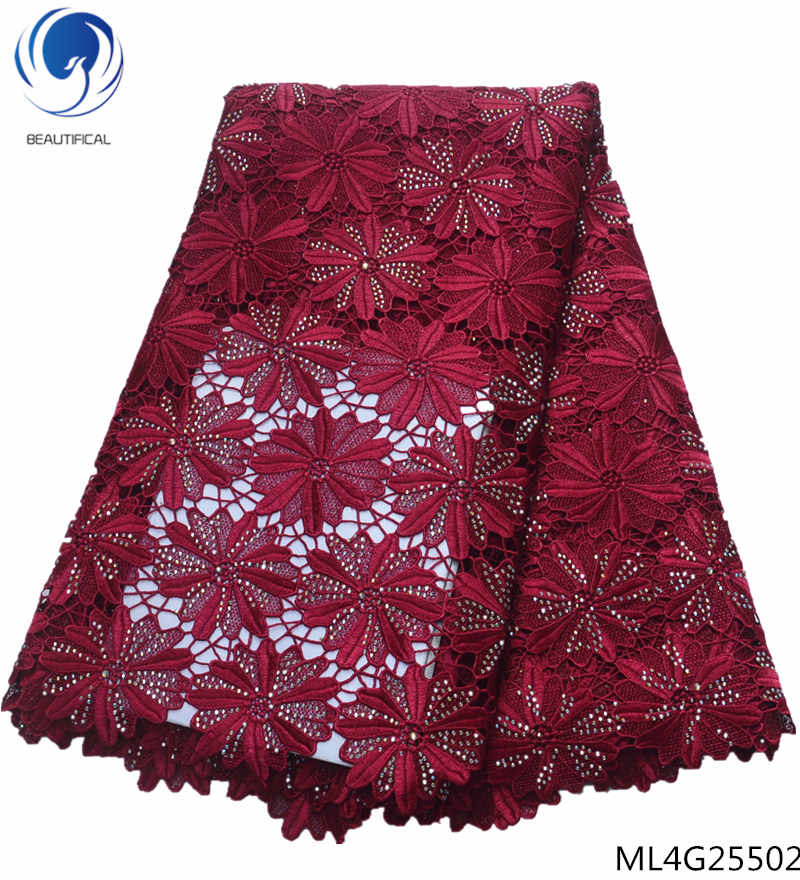 BEAUTIFICAL guipure lace fabrics with rhienstones water soluble laces fabrics cord laces fabrics for patry 5yards/lot ML4G255BEAUTIFICAL guipure lace fabrics with rhienstones water soluble laces fabrics cord laces fabrics for patry 5yards/lot ML4G255