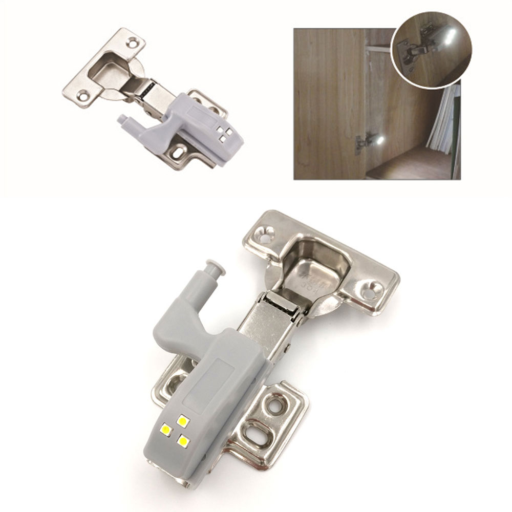Universal Furniture Cupboard Cabinet Wardrobe Hinge Led Lamp Night Light Door Open Auto ON LED Bulb