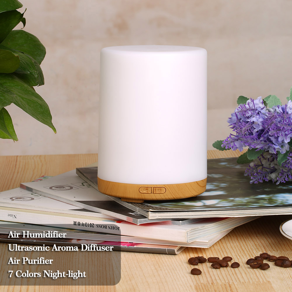 Homgeek 200ml  Humidifier 7 Colors LED light Ultrasonic Aroma Essential Oil Diffuser Air Humidifier Mist Maker for Home Office cute mini usb clovers ultrasonic air humidifier led light essential oil aroma diffuser home office mist maker air purifier