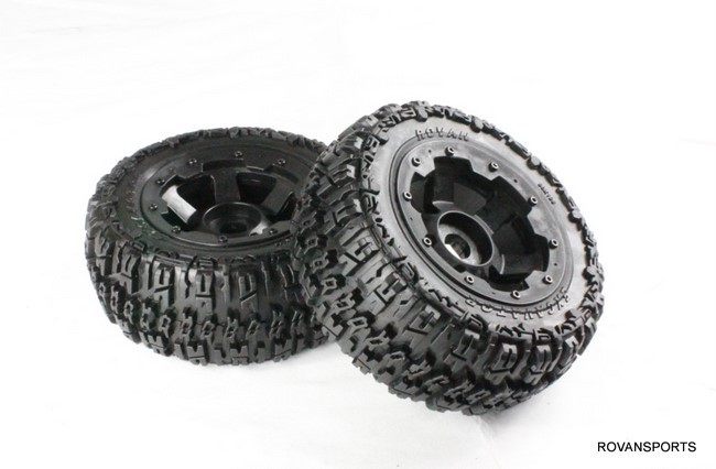 baja rear knobby tire set for 5T truck 95074 front knobby tire set for baja 5t 5sc 2pc 95162