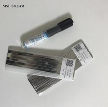 MSL SOLAR Solar Cell Solder Ribbion 20m tabbing wire 2m Bus wire 1pcs Flux pen for