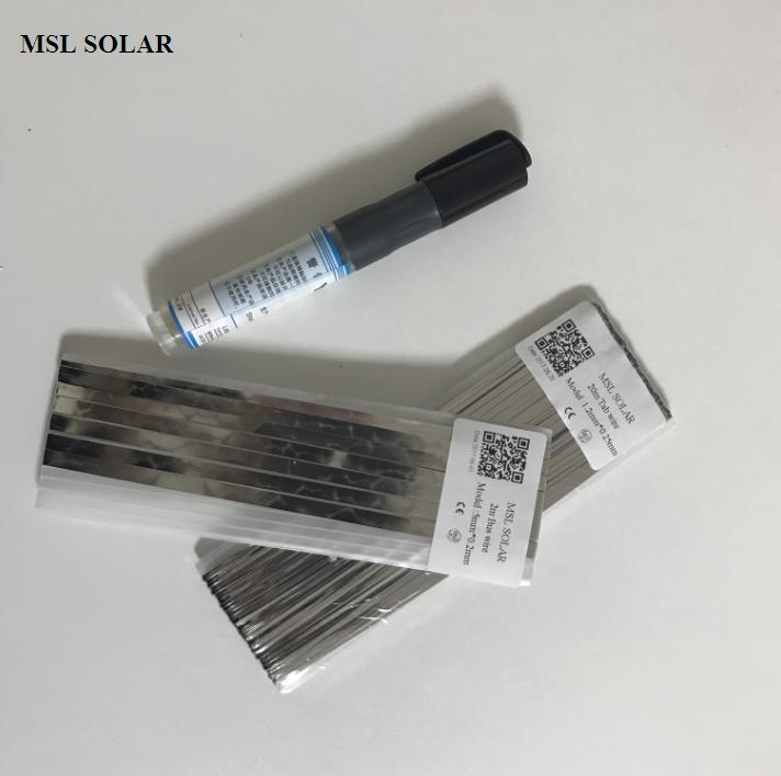 MSL SOLAR Solar Cell Solder Ribbion 20m tabbing wire + 2m Bus wire + 1pcs Flux pen for Diy solar panel.welding strip