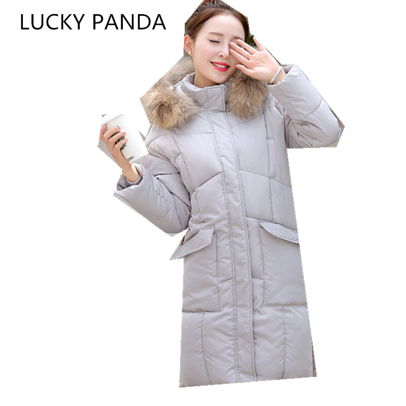LUCKY PANDA  2016 WOMAN  new winter coat in the long thin slim Hooded Coat down coat students LKB182 the woman in the photo