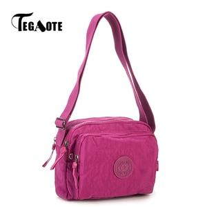 Image 1 - Tegaote wome sacos de ombro pequena bolsa feminina designer luxo marca aleta mini sólida praia crossbody saco bolso mujer náilon 2020