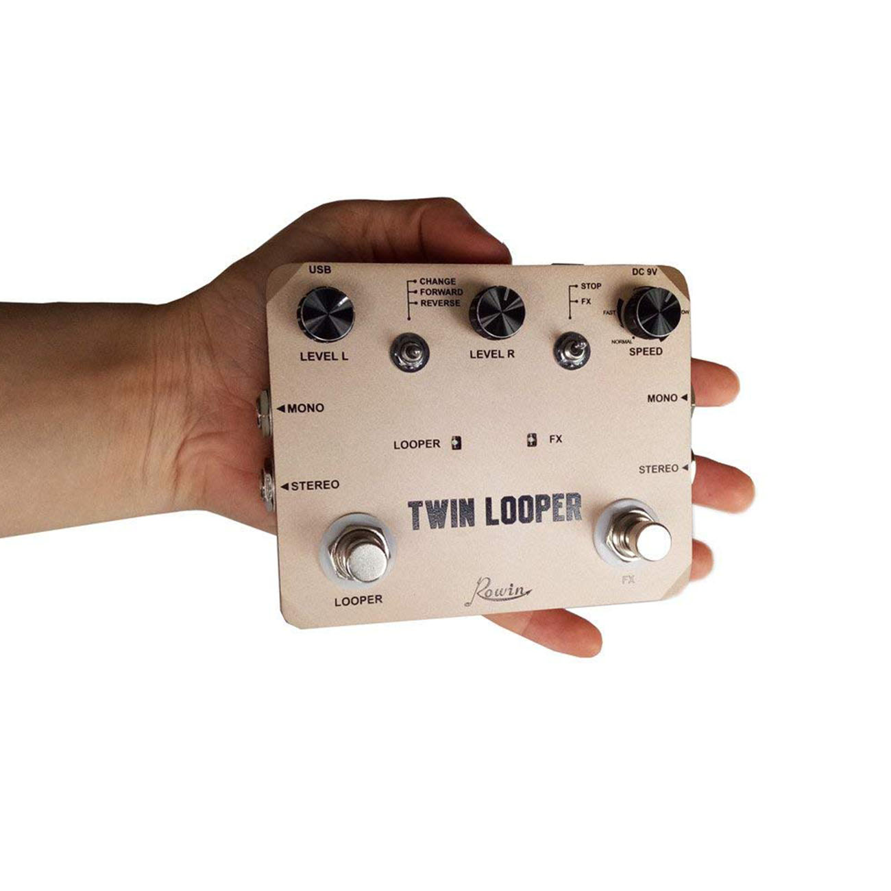 Image 5 - Rowin Twin Looper Station Electric Guitar Effect Pedal Loop Station for Guitarists Golden-in Guitar Parts & Accessories from Sports & Entertainment