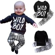 Autumn Winter Baby Boy Clothes Long Sleeve Letter Printed Top + Pants 2 Pcs Sport Suit Newborn Infant Clothing Set New Arrival