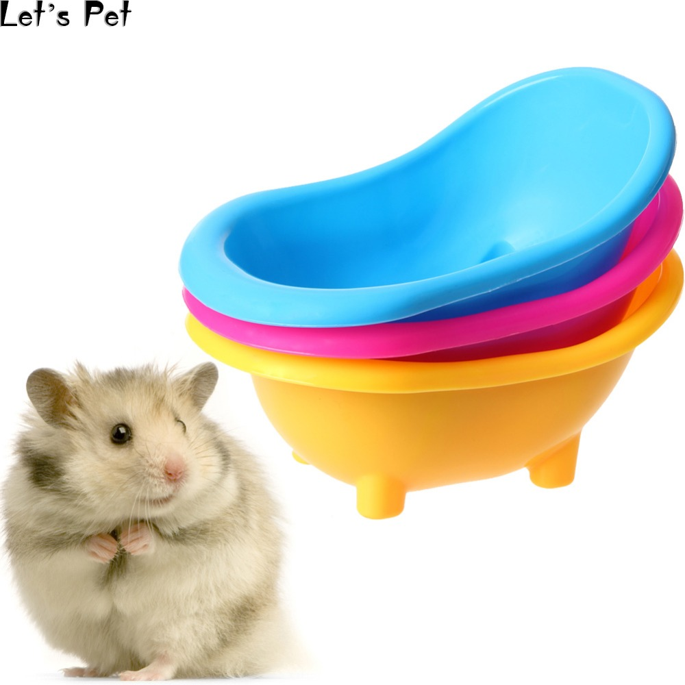 Let's Pet Mini Hamster Gerbils Bathtub Small Pets Bath Sand Room Bathroom Bathing Case