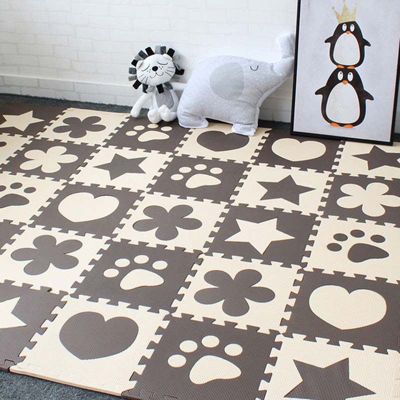 10pcs Baby Play Mat In Nursery EVA Foam Childrens Carpet With Border Puzzle Mat For Newborns Activity Gym Kids Rug 30x30 Cm
