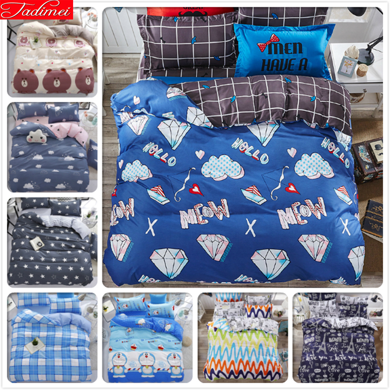 Duvet Cover 3/4pcs Bedding Set Adult Kids Bed Linen Single Twin Full Queen King Size Quilt Comforter Pillow Case 150x200 180x220Duvet Cover 3/4pcs Bedding Set Adult Kids Bed Linen Single Twin Full Queen King Size Quilt Comforter Pillow Case 150x200 180x220