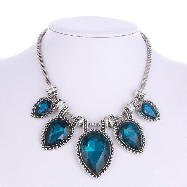 LOVBEAFAS Maxi Gargantilha Colar Declaração de Moda Para As Mulheres Collares Collier Femme Bijoux Fine Jewelry Presente Do Casamento Do Coração de Vidro