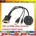 Новый 30 см VGA К HDMI с аудио 1080 P ПК ТЕЛЕВИЗОР адаптер аналого-Цифровой выход VGA Конвертер Для проектора ТВ