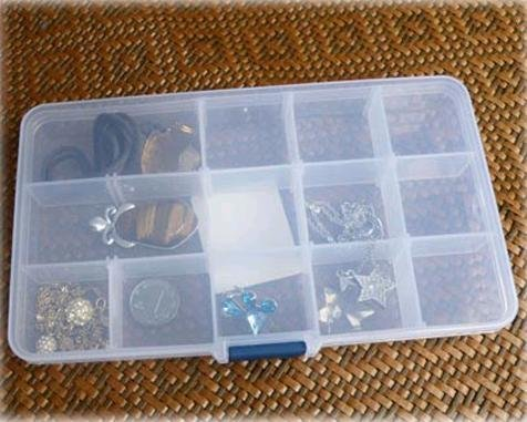 15 case transparent jewelry box kit multi-function travel storage box (KG-08)