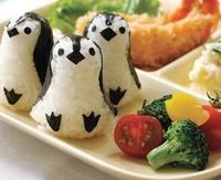 Kawaii Baby Penguin Shape Rice BALL Shaper Mould Mold ; Stamper Mold Mould Shaper Kit ; Kitchen KIT TOOL Set Mould Mold