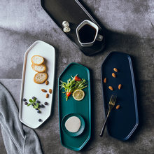Керамическая тарелка для суши в скандинавском стиле нестандартная