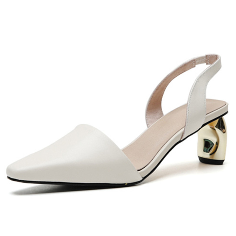 Sandalias de mujer de diseño de marca FEDONAS 2019 zapatos de fiesta de cuero genuino con punta cuadrada de nueva llegada para mujer-in Sandalias de mujer from zapatos    2