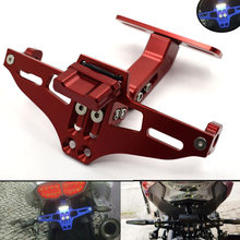 Universal Motorcycle CNC Aluminum License Plate Bracket Licence Plate Holder For BMW F800GS F 800 GS F800 GS F 800GS 2008-2014(China)