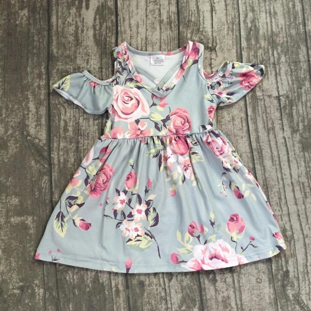 new design baby girls summer dress clothing girls floral dress children soft milksilk dress girls floral boutique dress outfits floral flounce bardot dress
