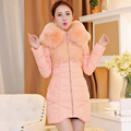 New 2017 winter women thicken down coat warm long fur coat slim down cotton padded women parka coat women down jacket