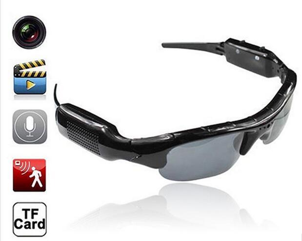 480P Digital Video Recorder mini Camera DV DVR Eyewear Sunglasses Camcorder Recorder Support TF card For