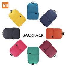 Oryginalny Xiao mi kolor mały plecak 10L duża pojemność torba przeciw wodzie mi 8 miłośników kolorów para plecak dla studenta Younth Man