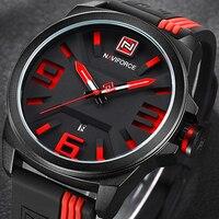 Naviforce新しい腕時計メンズスポーツクォーツ腕時計カラフルなファッションとカジュアル腕時計はっきりとアナログ男性時計レロジオmasculino