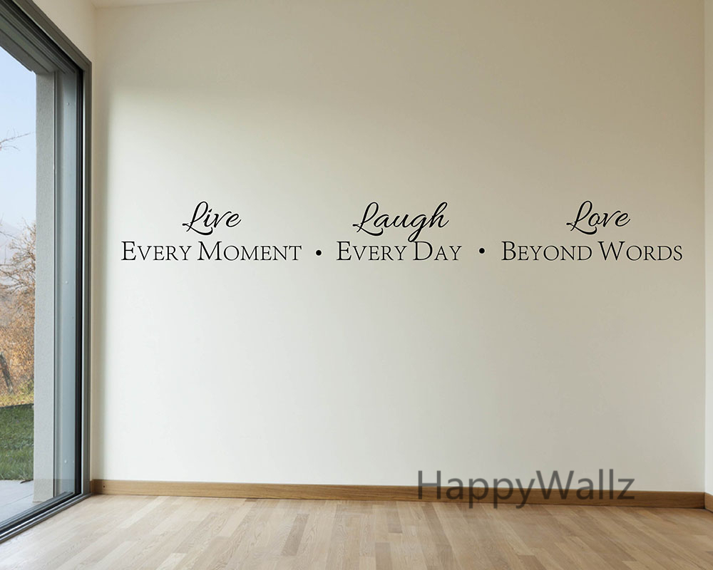 Motivational Quote Wall Sticker Live Every Moment Laugh Every Day - Home Decor - Photo 4