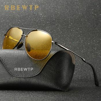RBEWTP Retro Vintage męskie okulary słoneczne noktowizyjne spolaryzowane okulary jazdy óculos męskie okulary akcesoria dla mężczyzn kobiet tanie i dobre opinie Z poliwęglanu Stop YS0971