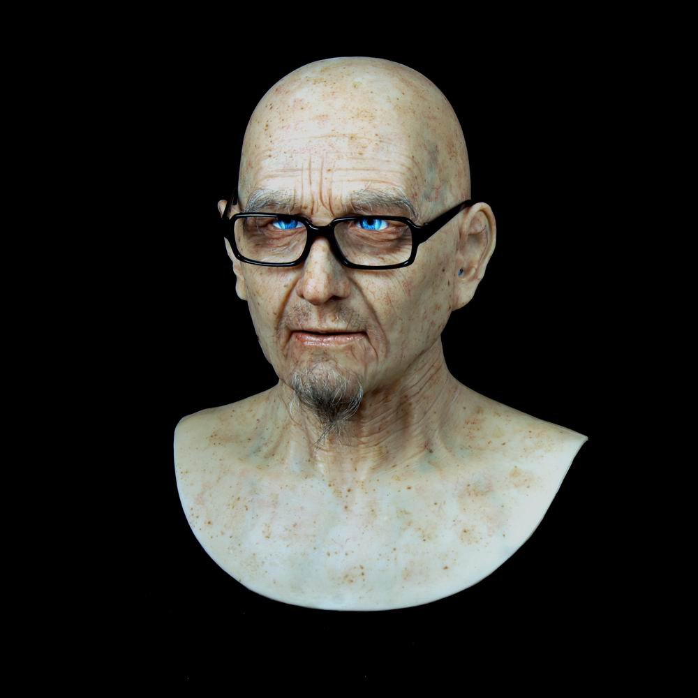OOGXXD Old William Good Quality Realistic Silicone Masks, Grandpa Masquerade For April Fool's Day Full Head Tricky Props