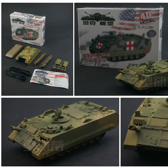 ( 8 pcs / lots ) 1:72 Military Assembled Tank Model 4D Military Tank Model Puzzle Figure for Boy Gift Educational Toys
