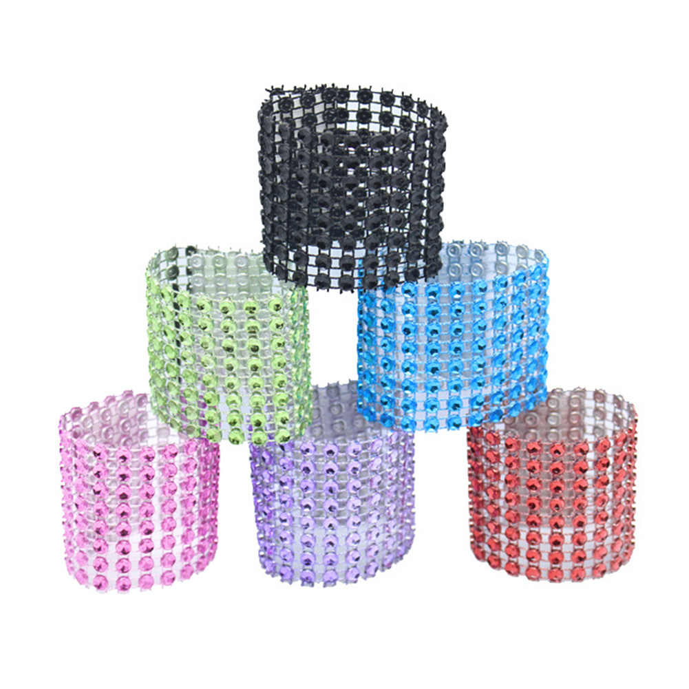 Curtain Clips Buckle Decorative Napkin Diamante Crystal Tieback Window Strap Rings